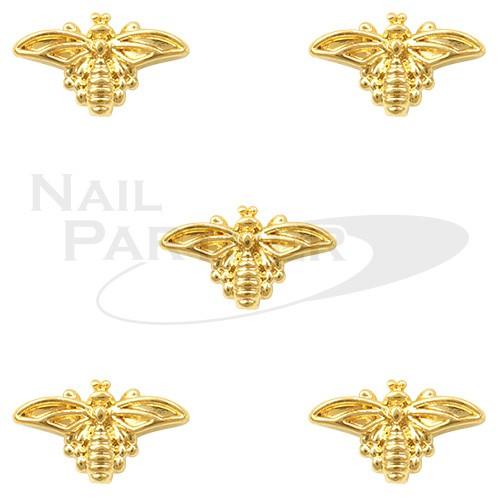 CLOU 金屬飾品 蜜蜂 5×8mm 金(30個)