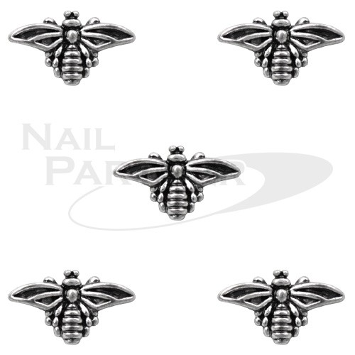 CLOU 金屬飾品 蜜蜂 5×8mm 古銅銀(30個)