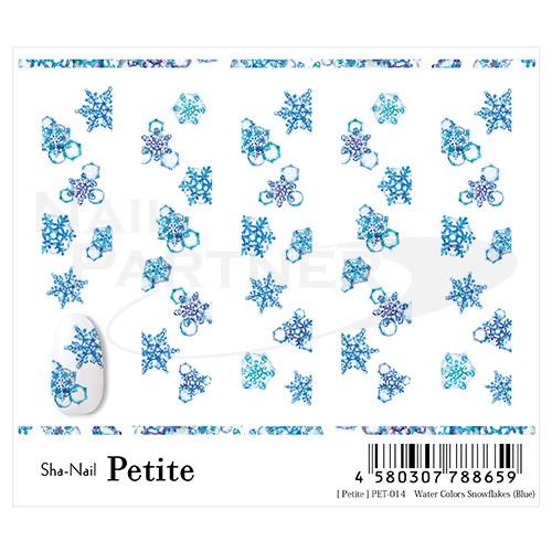 Sha-Nail 貼紙 Petite PET-014(水彩雪花片)