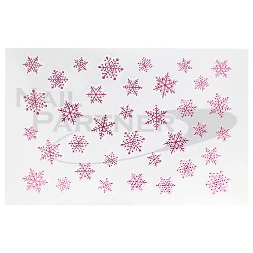 Amaily 彩繪貼紙9-6 雪的結晶(粉紅)