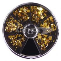 BEAUTY NAILER 美甲飾品 方型 SVP-6 金色
