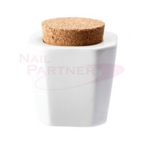 Capri 軟木塞溶劑杯-白色