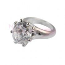 ◆M Petit 原創美甲飾品 A068 袖珍戒指-銀色X水晶