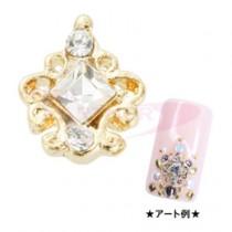 ★M Petit 原創美甲飾品 A085 寶石-金色X水晶
