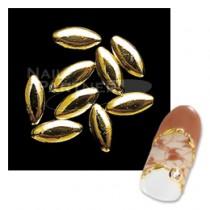 Capri 金屬葉片 金色4mm (100粒)