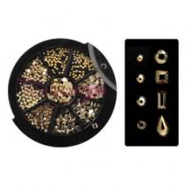 Capri 金屬飾品 綜合組 金色 (370粒)