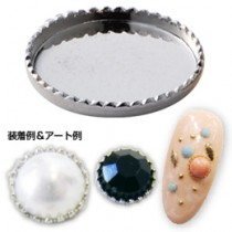 ★Capri 彩石彩鑽底座 圓型 銀色4mm(10個裝)