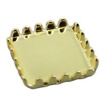 ★Capri 彩石彩鑽底座 方型 金色4*4mm(10個裝)