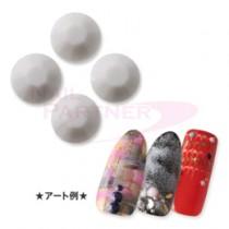 ★CLOU 彩石 煙熏 灰色3mm (40粒)
