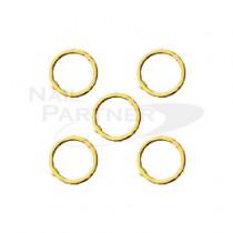 PRETTY NAIL 扁平圓環 2.8mm 金色 (20個)