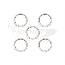 PRETTY NAIL 扁平圓環 2.3mm 銀色 (20個)