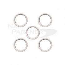 PRETTY NAIL 扁平圓環 3.5mm 銀色 (20個)