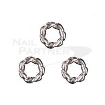 PRETTY NAIL 扭環M 銀色 (15個)