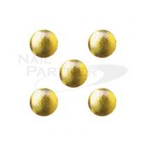 PRETTY NAIL 鉚釘 圓形-金色 1mm (50個)