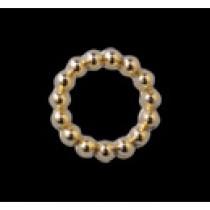 PRETTY NAIL 電鍍珠 環形-金色 S (15個)