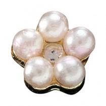 ★M Petit 原創美甲飾品 小花 金*珍珠水晶 A152