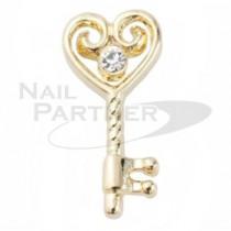 M Petit 原創美甲飾品 A057愛心鑰匙 金色