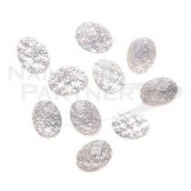 TOP LINE 多邊鑽寶石 白 4×6mm(20個)