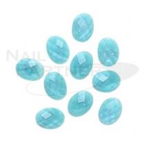 ◆TOP LINE 多邊鑽寶石 藍 4×6mm(20個)