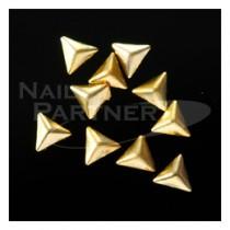 Capri 3D立體三角形金色鉚釘3mm(100粒)