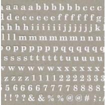 Amaily 彩繪貼紙 4-4 小寫字母 (白)