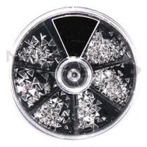 BEAUTY NAILER 壓克力鉚釘 三角 銀 SVP-13
