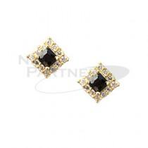 CLOU 美甲珠寶 鑽石結晶 黑色 8mm (2個)