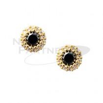 CLOU 美甲珠寶 月形結晶 黑色 7mm (2個)