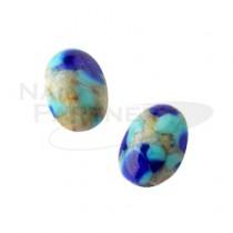 PRECIOSA 寶石1224 藍銅 6×4mm(10粒)