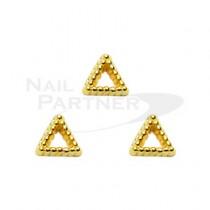 ◆PRETTY NAIL 三角形串珠S 3mm 金(15個)