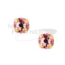 ◆CLOU 美甲珠寶 附台座鑽飾  淺玫瑰 3mm (10個)