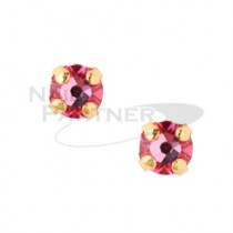 ◆CLOU 美甲珠寶 附台座鑽飾  玫瑰 3mm (10個)