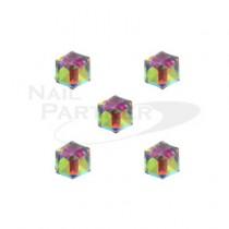◆CLOU 美甲珠寶 冰塊  彩虹4mm (5個)