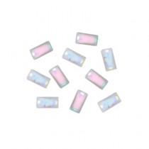 ◆M Petit 貝殼風鑽飾 B613矩形 2.5×5mm(20個)