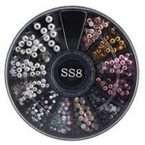 NAIL GARDEN 玻璃鑽SS8 人氣MIX TO-221(約370顆)