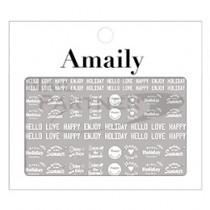◆Amaily 彩繪貼紙2-11 Holiday (白)