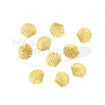 ◆CLOU 金屬飾品 小貝殼 金5x4.5mm(30粒)