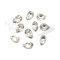 SARURU 彩繪飾品 淚珠 水晶 4×6mm(10個)