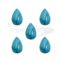 ◆M Petit 天然石風 水滴 綠松石4×6mm(20個) B635