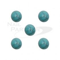 ◆M Petit 天然石風 圓型B652 冰綠4mm(20個)