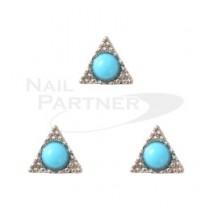 ◆CLOU 美甲珠寶三角洲 綠松石 銀6mm(3個)