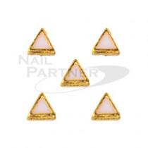 TOP LINE 黃金鉚釘金字塔 白 3mm (10個)