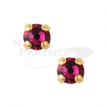 ◆CLOU 美甲珠寶 附台座鑽飾 紅寶石 3mm (10個)