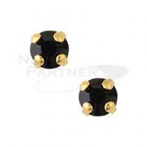 ◆CLOU 美甲珠寶 附台座鑽飾 黑玉 3mm (20個)