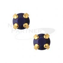 ◆CLOU 美甲珠寶 附台座鑽飾  海軍藍 3mm (20個)