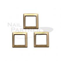 CLOU 金屬飾品 彩鑽邊框 方形 金色2*2(200粒)