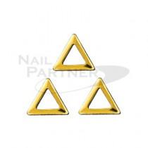 CLOU 金屬邊框 2mm 三角形 金色(200粒)