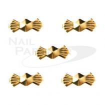 ◆CLOU 蝴蝶結 金3×8mm (20個)