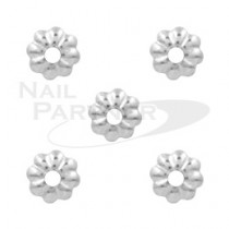 Capri 花型珊瑚 銀色 (50粒)