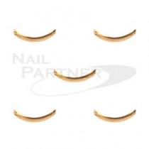 Capri 弧形框 0.8x6mm 金色 (50個)